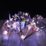 8FT | 200 LED | Waterfall Lights | 10 Strands | Copper Spray Strands | Waterproof | Battery Operated Fairy lights | Warm White