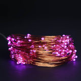 200 LED Purple Battery Operated Fibre Optics String Backdrop Fairy Light