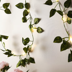 7FT LED Garland String Lights, Fairy Lights, Battery Operated Lights, Eucalyptus Garland