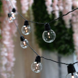 26FT String LED Lights With 25 Clear Glass Bulbs 8 Mode Dimmable Warm White Waterproof Outdoor/Indoor Patio - Remote Included