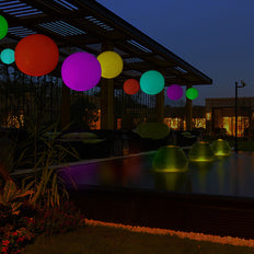12inch Floating Pool Light Up Ball, Inflatable Outdoor Garden Lights With Remote - 13 RGB Colors