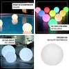 "16"" Cordless Floating Pool Lights with Remote, Garden Lights 16 RGB Colors With 4 Color Modes Light Up Ball"