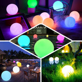 "20"" Cordless Floating Pool Lights with Remote, Garden Lights 16 RGB Colors With 4 Color Modes Light Up Ball"