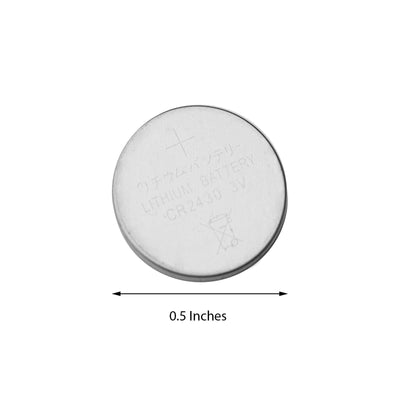 12 Pack | 3 Volt |  Lithium Coin Battery |  Button Cell Battery CR2430 | 270 mAH