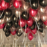 10 Pack | 12'' Silver Latex LED Light Up Balloons