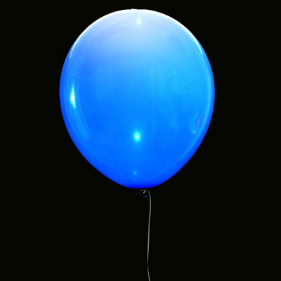 "10 PCS Wholesale 12"" LED Light Up Latex Balloons For Birthday Party Wedding Event Decoration - White/Royal Blue"