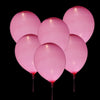 10 Pack | 12'' White/Fushia Latex LED Light Up Balloons