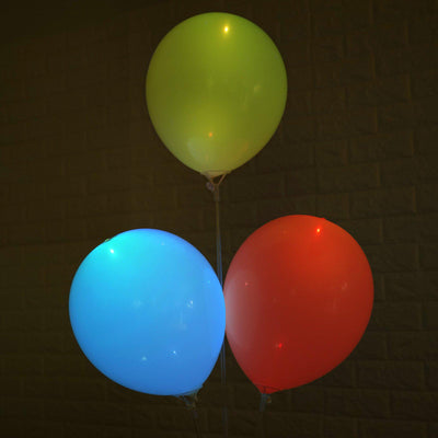 10 Pack | 12'' Assorted Latex LED Light Up Balloons