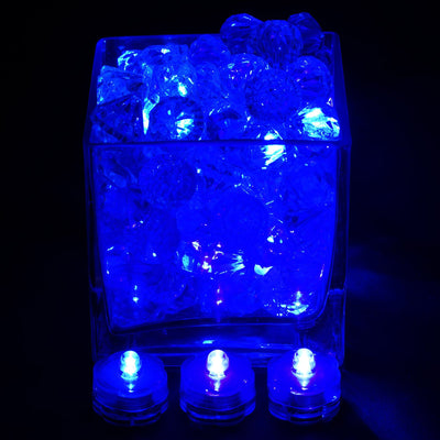 12 PCS Wholesale Submersible LED Waterproof BLUE Light RGB For Vase Wedding Party Fish Tank