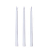 Set of 3 | 11 inch White Flickering Flameless Battery Operated LED Taper Candles