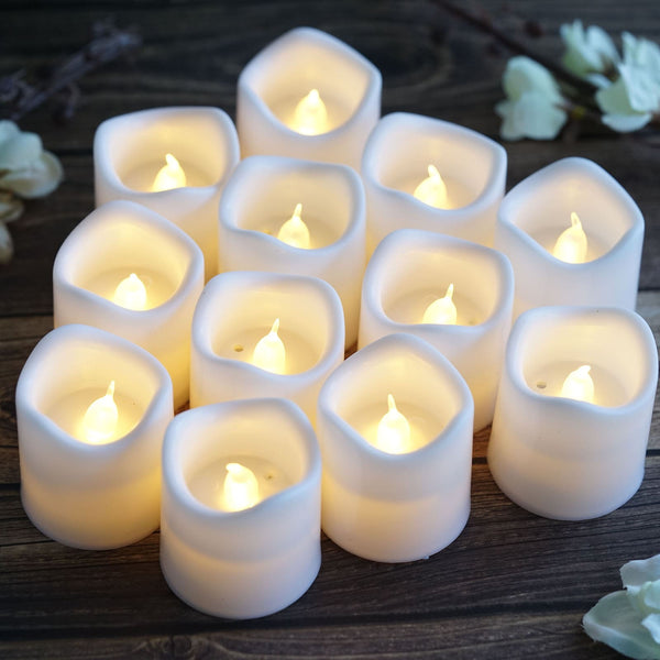 3pc LED Rechargeable Candle Flashing Tea Light Dinner Party Candlestick Wedding