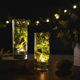 12 Pack | Warm White LED Lights Waterproof Battery Operated Submersible