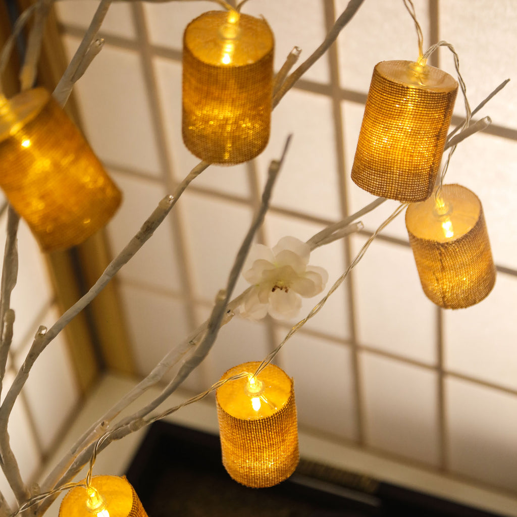 70 Quot Burlap Fairy String Lights With 10 Bright White Leds