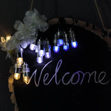 12 Pack | Warm White Bullet LEDs With String | Waterproof Balloon Lights Vase LEDs