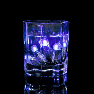 12 Pack | Purple Bullet LEDs With String | Waterproof Balloon Lights Vase LEDs