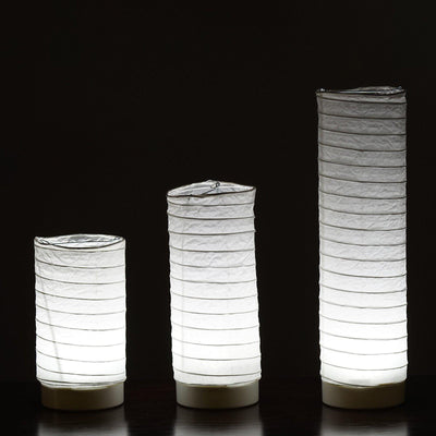 3 Pcs Cylinder LED Light up Tabletop Paper Lanterns
