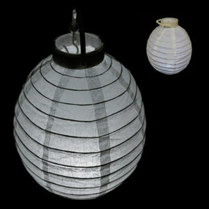 "4 Pack | 8"" White Hanging Paper Lantern LED Lights - Clearance SALE"