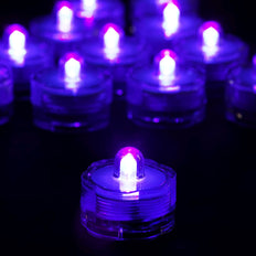 12 Pack | Purple Waterproof Battery Operated Submersible Led Lights Centerpieces