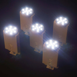 12 Pack White Paper Lantern Lights Battery Operated With Remote & Bracket Clips