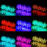 10 LED Submersible WATERPROOF 13 Color Changing Light RGB for Vase Wedding Party Fish Tank Decors With REMOTE - 4 PCS