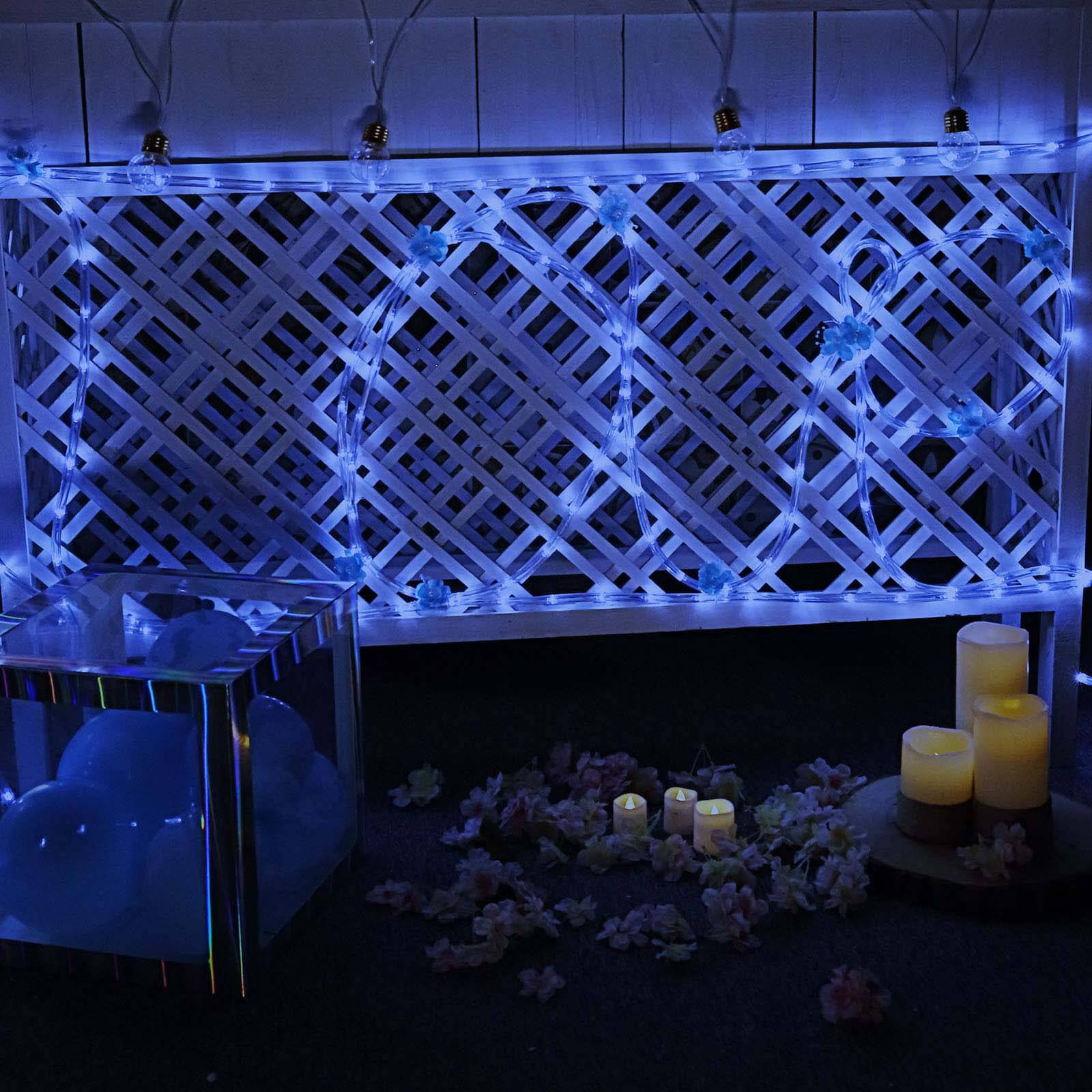 on sale 5fe53 6ceb2 33 Ft Long Blue Waterproof Rope Lights With 250 Bright LEDs