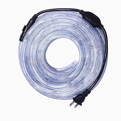 33FT Long White Waterproof Rope Lights With 250 Bright LEDs - 8 Light Modes