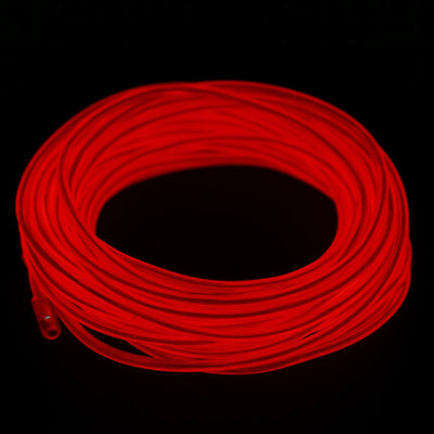 15FT Sound Activated Neon LED Tube Rope Light Car Party Decoration - RED