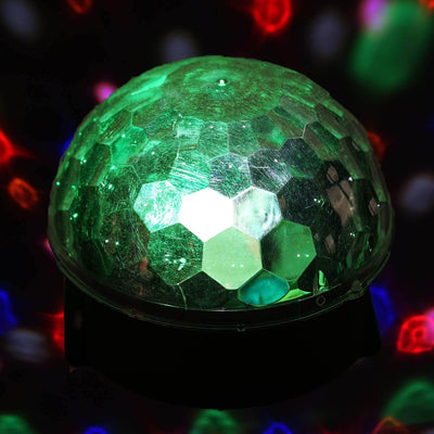 20W Voice Activated Disco LED Magic Crystal Ball DJ Party Wedding Stage Strobe Lighting