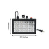 15 Watt | 12 LED Sound Activated DJ Stage Strobe Flash Light With Speed Control