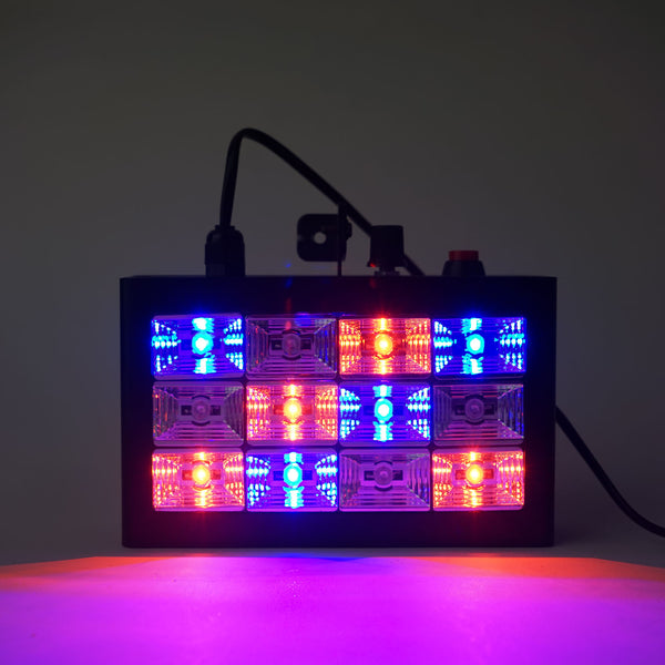 12 LED 15 Watt RGB Sound Activated Strobe Flash Light With Speed Control