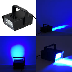 35 Watt Blue 24 LEDs Mini Strobe Flash Light With Speed Control