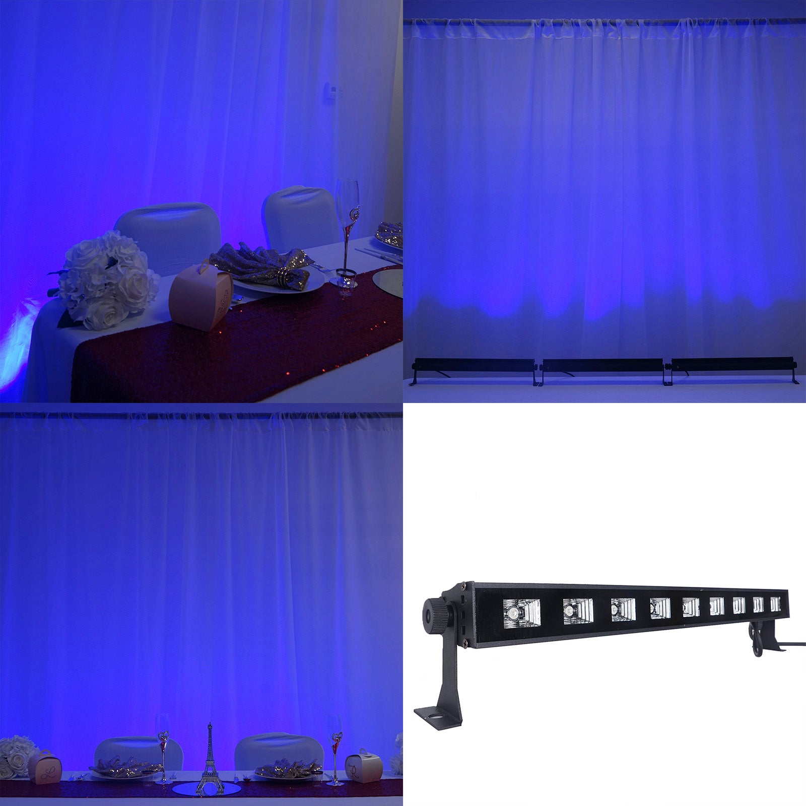 27 Watt Blue Super Bright 9 Led Wall Washer Backdrop Lighting
