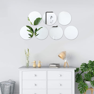 "6 Pack 10"" Round Glass Mirror"