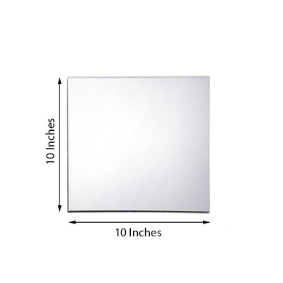 "Pack of 6 | 10"" Square Glass Mirror"