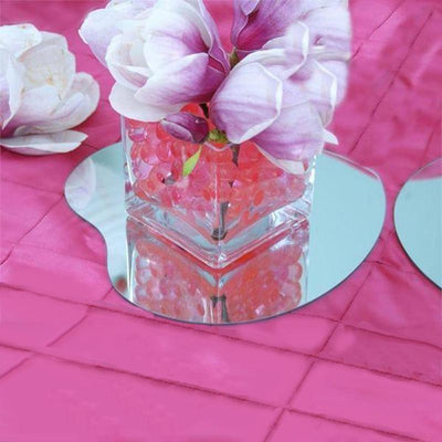 "4 Pack 12"" Heart Glass Mirror Wedding Table Centerpiece Decoration"