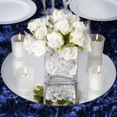 "4 Pack 14"" Round Glass Mirror Wedding Table Centerpiece Decoration"