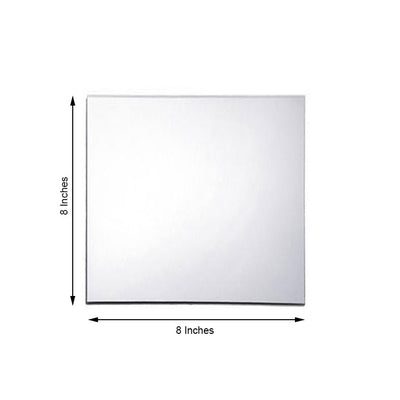 "Pack of 6 | 8"" Square Glass Mirror"