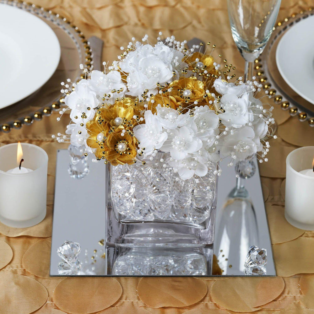 Pack quot square glass mirror wedding table centerpiece