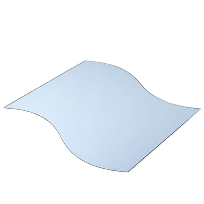 "4 Pack 12"" Wave Glass Mirror"