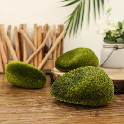 6 Pack | Artificial Moss Rock Vase Fillers | Decorative Moss Stone Bowl Fillers