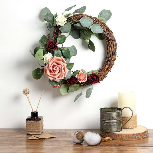 "12"" Grapevine Wreath, DIY Rustic Wreath, Natural Twig Wreath"