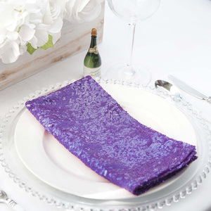 "20""x20"" Purple Premium Sequin Napkin"
