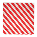 "20 Pack 13"" Striped 2 Ply Paper Beverage Napkins - Red/White"