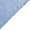 5 Pack 20x 20 Dusty Blue Crinkle Crushed Taffeta Napkins