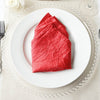 "5 Pack 20""x 20"" Red Crinkle Crushed Taffeta Napkins"