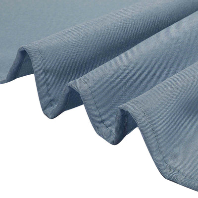 "5 Pack 17""x17"" Dusty Blue Polyester Linen Napkins"