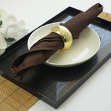 "17""x17"" CHOCOLATE Wholesale Polyester Linen Napkins For Wedding Birthday Party Tableware - 5 PCS"