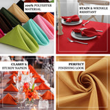 17inch Red Polyester Linen Napkins