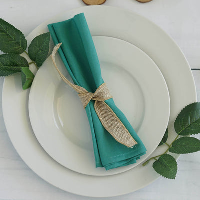 "17""x17"" TURQUOISE Wholesale Polyester Linen Napkins For Wedding Birthday Party Tableware - 5 PCS"