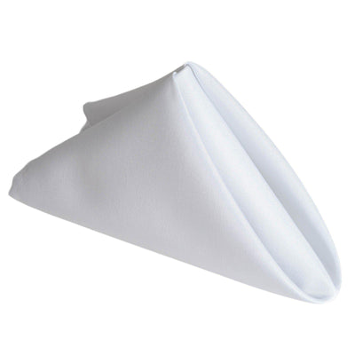 "17""x17"" WHITE Wholesale Polyester Linen Napkins For Wedding Birthday Party Tableware - 5 PCS"
